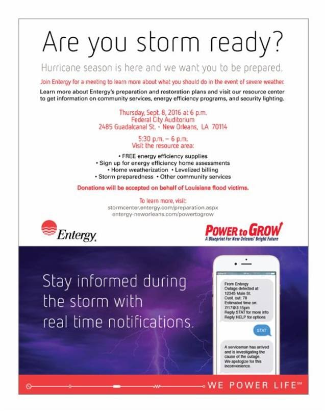Entergy community mtg operation storm readythurs sept 8 entergy community mtg operation storm readythurs sept 8 aloadofball Image collections